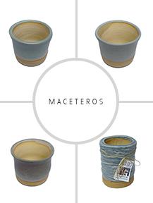 maceteros hechos de ceramica gres